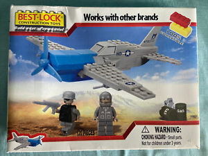 Best-Lock Construction Toy US Air Force plane  #9011591NRFB 120 pc / 2 figures