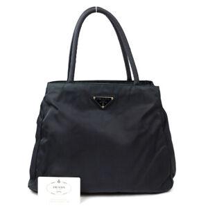 PRADA Handbag triangle logo nylon green B3864