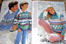 Strickmoden für die ganze Familie Burda 1983 Stricken Strickheft Handarbeitsheft