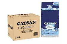 Catsan Hygiene Plus Non Clumping Cat Litter, 28 Litres Odour Control 2 x 14L