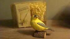 Hallmark Marjolein Bastin Birds At My Window Goldfinch in box