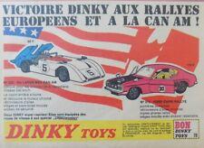 Publicité de presse ; Dinky toys - Ford Capri rallye - Mc Laren M8A Canam