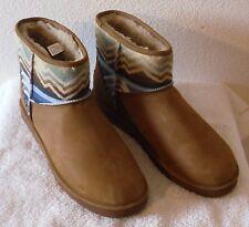 NEW UGG Pendleton Mens Mini Deco Snow Winter Boots 18 Chestnut MSRP$190
