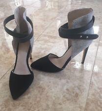 Womens Shoes Joe's High Heel Strappy Fashion Pumps Black White Size 37.5