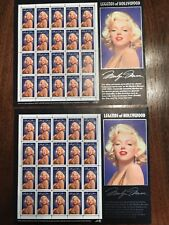 1995 Marilyn Monroe LEGENDS OF HOLLYWOOD Sheet of .32 Stamps