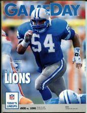 1991 Dallas Cowboys vs Detroit Lions Program 10/20/91 Chris Spielman 49259