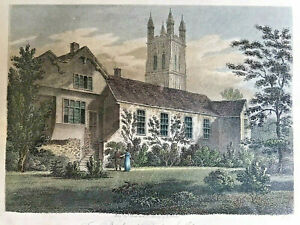19th Century Engraving | British History | The Bishop's Palace | Glocester