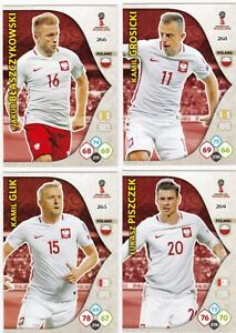 POLAND X 20 CARDS, PANINI ADRENALYN XL RUSSIA 2018 WORLD CUP, TEAM MATES.