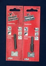 NEW VERMONT AMERICAN 2 PIECE WOOD, METAL, PVC COUNTERSINK DRILL BIT SET