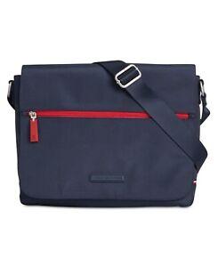 Tommy Hilfiger Men's Alexander Messenger Bag - Navy / Red