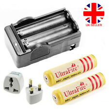 2x 18650 3600mAh 3.7V Rechargeable Lithium Battery + Fast Dual Battery Charger D