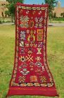 """Moroccan handmade rug authentic and vintage azilal rug wool runner 3'5""""×11'2"""""""