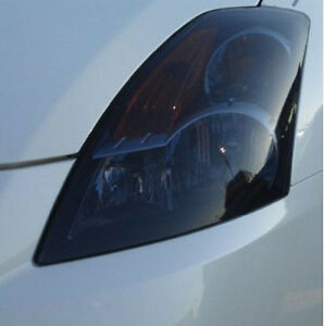 FOR 07-09 ALTIMA SEDAN HEAD LIGHT PRECUT SMOKE TINT OVERLAYS