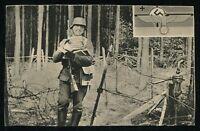 WWII WW2 Germany 3rd Reich Postcard Hitler Wehrmacht Soldier Feldpost RPPC 1940