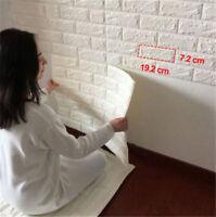 3D Brick Waterproof Wall Sticker Self Adhesive Panel Decal DIY Wall Decor
