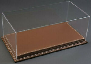 Atlantic Case Mulhouse 1:43 Acrylic Model Display Case W/ Brown Leather Base
