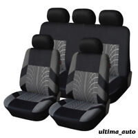 FULL SET GREY FABRIC CAR SEAT COVERS FOR VW LUPO TIGUAN CADDY PASSAT BORA POLO