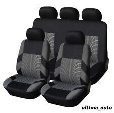 FULL SET GREY FABRIC CAR SEAT COVERS FOR VW LUPO TIGUAN CADDY PASSAT BORA POLO