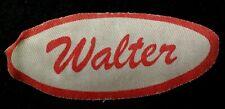 Walter Vintage 1960s Cursive Name Patch Uniform Shirt Iron On Rare Bronx Ny