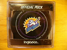 4fb229fe5 ECHL Orlando Solar Bears  18-19 New Reverse Logo Game Hockey Puck Collect  Pucks