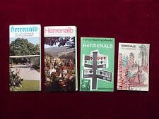 Konvolut 4 Reiseprospekte Herrenalb im Schwarzwald ab 1967, Landkarten