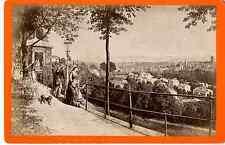 Vollenweider et Sohn, Bern, panorama d'un belvédère vintage albumen print