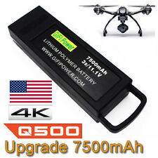 7500mAh 3S 11.1V Flight Lipo Battery for Yuneec Q500 4K Typhoon G RC Drone In US