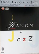 From Hanon to Jazz by Bert Konowitz - Piano Book w/ Free Downloadable Recording