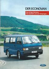 Truck Brochure - Ford - Econovan - c1985 - GERMAN language Prospekt Auto (T2200)