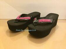 Demonia Platform Flip Flops Thong Sandals With Pink Studs Size 10