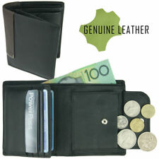 Genuine Mens Leather Wallet Full Grain Cowhide Card Coin Holder Slimline NO BOX