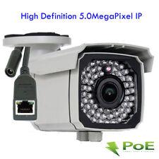 IP 5MP HD PoE 2592x1920P 2.8-12mm Varifocal Lens OSD IP66 Security Camera System