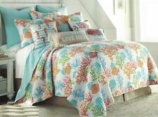 2-pc ☆ TROPICAL FISH REEF ☆ Twin Quilt Coastal Beach House Coral Bright Colorful