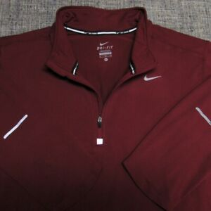 NIKE RUNNING STRETCH POLY SPANDEX 1/4 ZIP GOLF PULLOVER--XL--FLAWLESS!--SPOTLESS