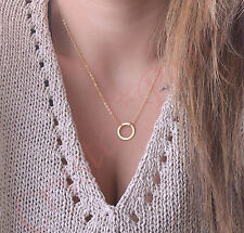 Hamsa Hand of Fatima Amulets Necklace Clavicle Pendant Minimalist Chain Boho