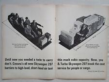 3/1969 PUB 4 PAGES AVION CESSNA TURBO SKYWAGON 207 AIRCRAFT FLUGZEUG ORIGINAL AD