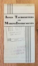 1931 Jones Tachometers and Marine Instruments Sales Folder
