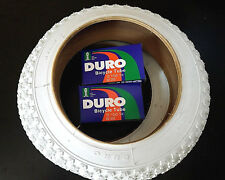 "1 SET 12"" KIDS JUNIOR BICYCLE TIRES 12-1/2X2-1/4 DURO TIRES +2 DURO TUBES *WHITE"