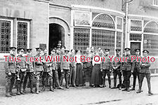 CH 221 - Troops Outside Robin Hood Hotel, Helsby, Cheshire - 6x4 Photo