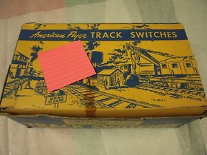 AMERICAN FLYER 720-A REMOTE CONTROL TRACK SWITCHES WITH CONTROLLER BOXED