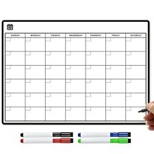 Magnetic Large Fridge Calendar and Dry Erase Pens, Monthly Planner Whiteboard