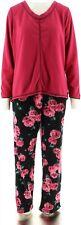 Stan Herman Micro Fleece Novelty Pajama Set Berry Black L NEW A294385