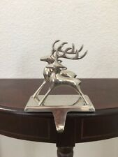 Silver Plated Silhouette Reindeer Stocking Holder