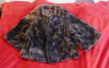 Chocolate Brown Size 14 Monsoon Faux Fur Bolero / Shrug Jacket