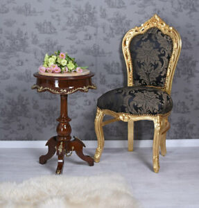 Tea Table Baroque Coffee Table Marquetry Wooden Table