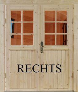 Doppeltür Einbautür  Gartenhaustür Holztür Nebeneingangstür Einzeltür Nach Maß