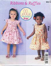 KWIK SEW SEWING PATTERN 192 TODDLERS & GIRLS SZ 1-4 DRESSES W/ GATHERED SKIRTS