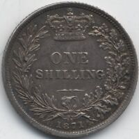 1871 Victoria Silver One Shilling***High Grade***Die 35***Collectors***