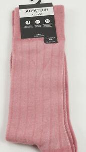 2 Packs of New Alfani Men's 10-13 Pink Knit Wicking Seamless Antimicrobial Socks