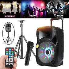 """12"""" Party DJ Karaoke Portable Bluetooth PA Speaker w/ MIC Remote + Stand Tripod"""